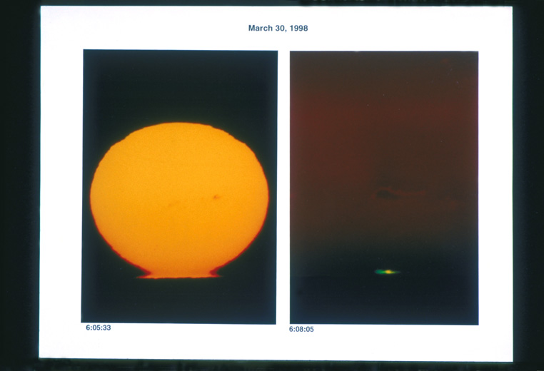 Omega sunset, 30 March 1998